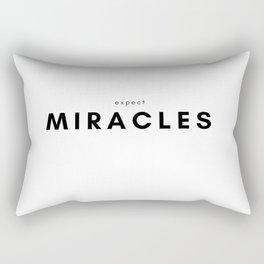 Expect Miracles Rectangular Pillow