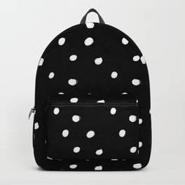 white tiny polka dots on black - Mix & Match with Simplicty of life Backpack
