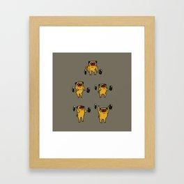 Pug Clean and Jerks Framed Art Print