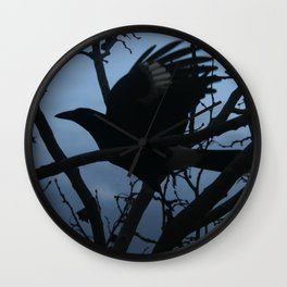 Pied Currawong Silhouette DPG150613 Wall Clock