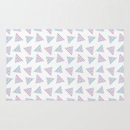 Pink Cyan Pattern Rug