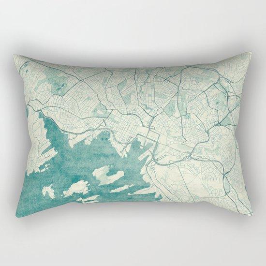 Oslo Map Blue Vintage Rectangular Pillow