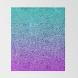 Tropical Twilight Glitter Gradient Throw Blanket