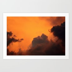 Inferno in the Clouds Art Print