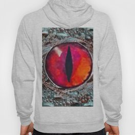 BLAZING RED DRAGON'S EYE & SCALY GREY  SKIN FROM  ART Hoody
