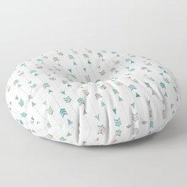 Modern coral pink teal watercolor bohemian arrows Floor Pillow