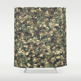 Fast food camouflage Shower Curtain