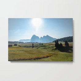 Picture of the Alpe di Siusi (Seiser Alm) I | A Journey through the Dolomites, Italy Metal Print