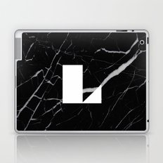 Black Marble - Alphabet L Laptop & iPad Skin