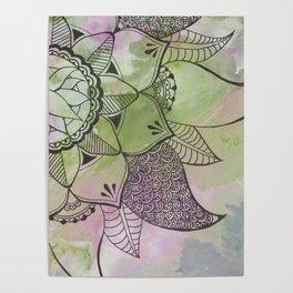 Mandala | Fluid Art | Boho | Gypsy Poster