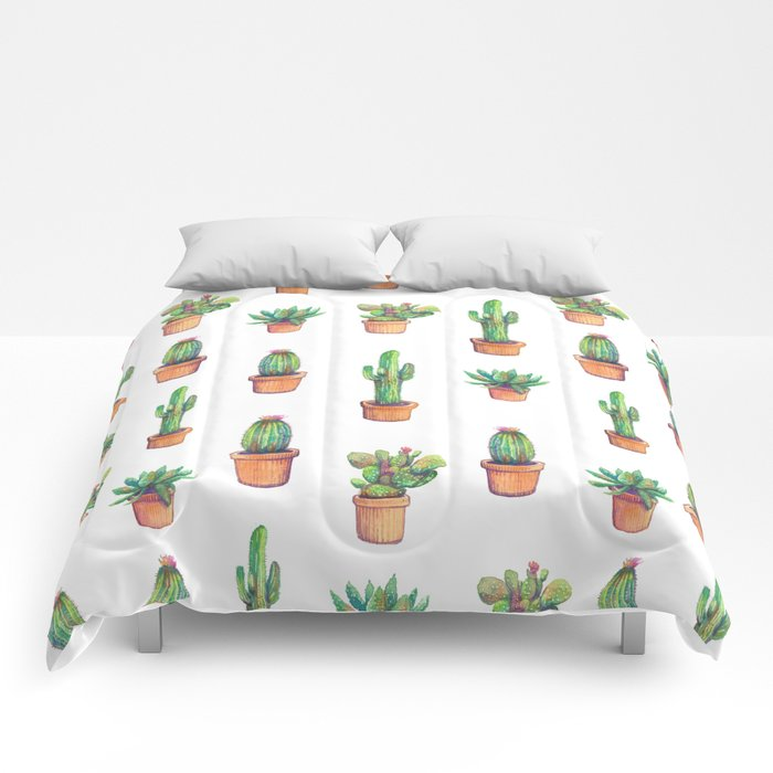 my old caactus are back Comforters