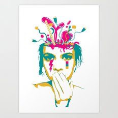 Liquid thoughts:Girl Art Print