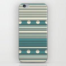 Grey and Blue iPhone & iPod Skin