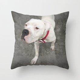 TSUKi (shelter pup) Throw Pillow