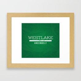 Westlake Greenbelt Framed Art Print