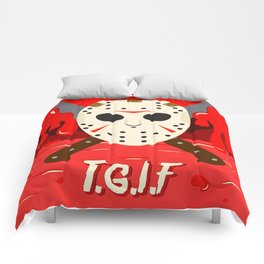 T.G.I.F- Friday the 13th Comforters