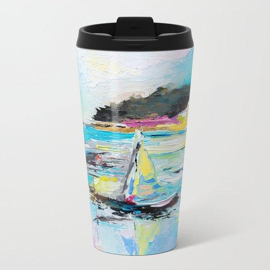 Boats on the lake Metal Travel Mug