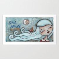 Sail Away - by Diane Duda Art Print