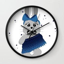 Miss Rapeti (blue bow) Wall Clock