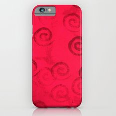Festive Red Spirals iPhone 6s Slim Case