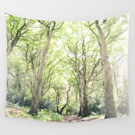 Whimsical Forest in Ireland Wall Tapestry