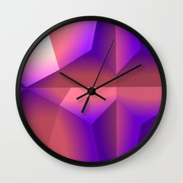 Facets Wall Clock