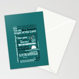 Supernatural - Castiel Quotes Stationery Cards