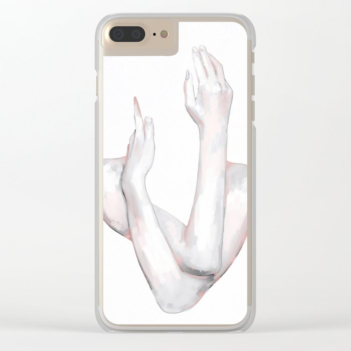 HANDS 8 Clear iPhone Case