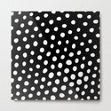 White Dots with Black Background by davidssociety6