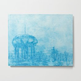 The Sudbury Water Tower Metal Print