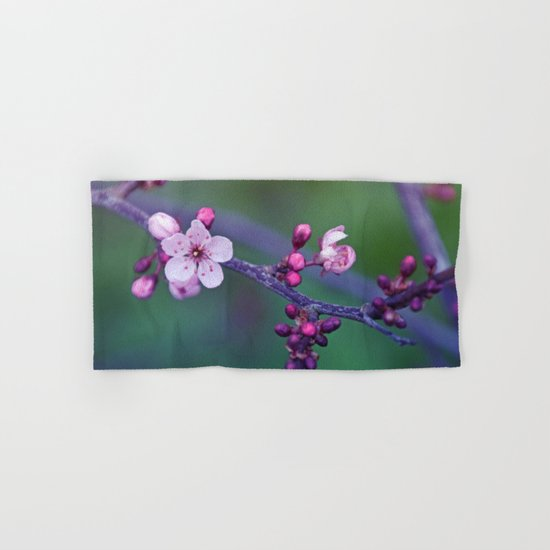 Dreamy purple Cherry Blossom Hand & Bath Towel