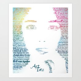Typographic Portrait Art Print