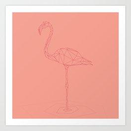 Poly-Flamingo Art Print