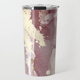 Burgundy abstract painting Travel Mug
