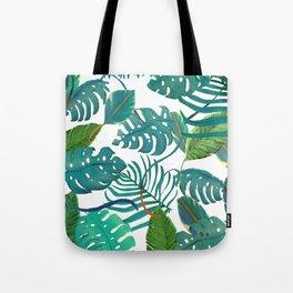 tropical diferent leaves Tote Bag