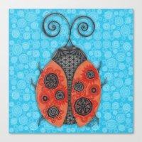 ladybug Canvas Prints featuring Ladybug by JoonMoon