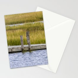 Wooden pier in marshlands Stationery Cards