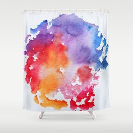 Vivid - abstract painting with pink, purple, red, orange, blue colors that pop Shower Curtain