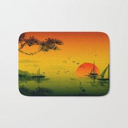 Japanese Sunset Bath Mat