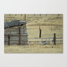 Old Shanty in Utah Canvas Print