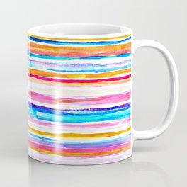 Bright Hand Painted Gouache Beach Chair Stripes Coffee Mug