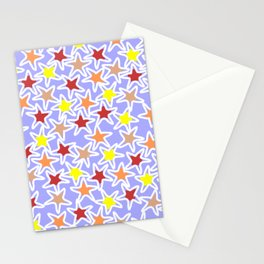 Colourful Stars Stationery Cards