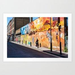 Street art in Brick Lane, London Art Print