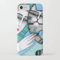 hug iPhone & iPod Cases featuring HUG by ALBENA