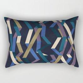 Straight Geometry Ribbons 2 Rectangular Pillow
