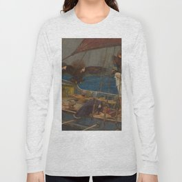 Ulysses and the Sirens by John William Waterhouse Long Sleeve T-shirt