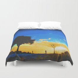 Before dusk melted colors of the world. Duvet Cover