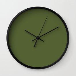 Peony Drama ~ Garden Green Coordinating Solid Wall Clock