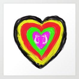 St. Valentine love story Art Print