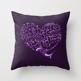 Breast Cancer Awareness Heart Throw Pillow